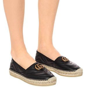 Quilted Leather Espadrilles